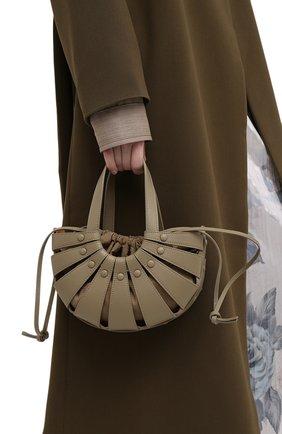 Женская сумка shell small BOTTEGA VENETA светло-коричневого цвета, арт. 651819/VMAUH | Фото 2