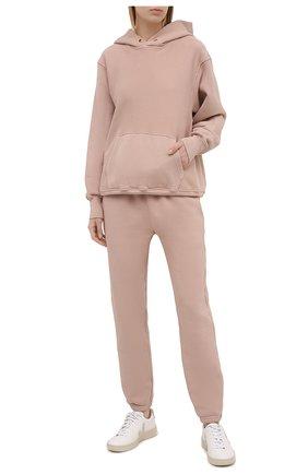 Женский хлопковое худи LES TIEN светло-розового цвета, арт. CF-1001 | Фото 2