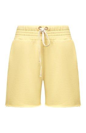 Женские хлопковые шорты LES TIEN желтого цвета, арт. CF-3000 | Фото 1