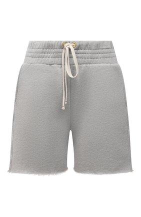 Женские хлопковые шорты LES TIEN серого цвета, арт. CF-3000 | Фото 1