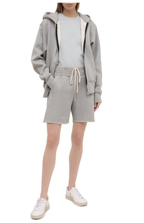 Женские хлопковые шорты LES TIEN серого цвета, арт. CF-3000 | Фото 2