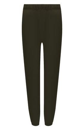 Женские хлопковые джоггеры LES TIEN темно-зеленого цвета, арт. CF-3001 | Фото 1