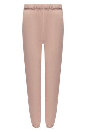 Женские хлопковые джоггеры LES TIEN светло-розового цвета, арт. CF-3001 | Фото 1