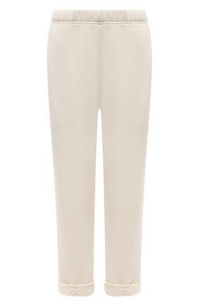 Женские хлопковые брюки LES TIEN светло-бежевого цвета, арт. CF-3007 | Фото 1