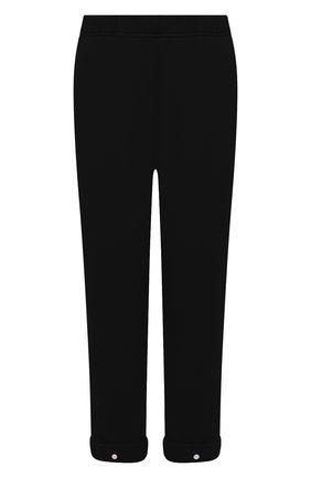 Женские хлопковые брюки LES TIEN черного цвета, арт. CF-3007 | Фото 1