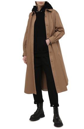 Женские хлопковые брюки LES TIEN черного цвета, арт. CF-3007 | Фото 2