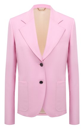 Женский шерстяной жакет VERSACE светло-розового цвета, арт. A88912/1F01050 | Фото 1
