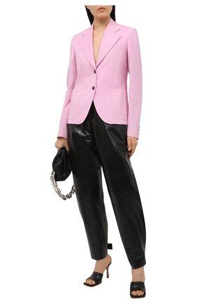 Женский шерстяной жакет VERSACE светло-розового цвета, арт. A88912/1F01050 | Фото 2