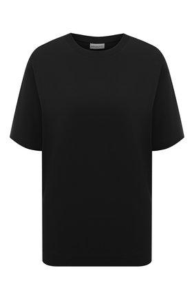 Женская хлопковая футболка DRIES VAN NOTEN черного цвета, арт. 211-11150-2600 | Фото 1