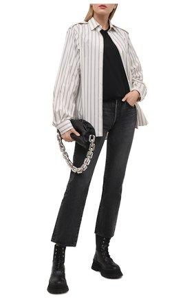 Женская хлопковая футболка DRIES VAN NOTEN черного цвета, арт. 211-11150-2600 | Фото 2