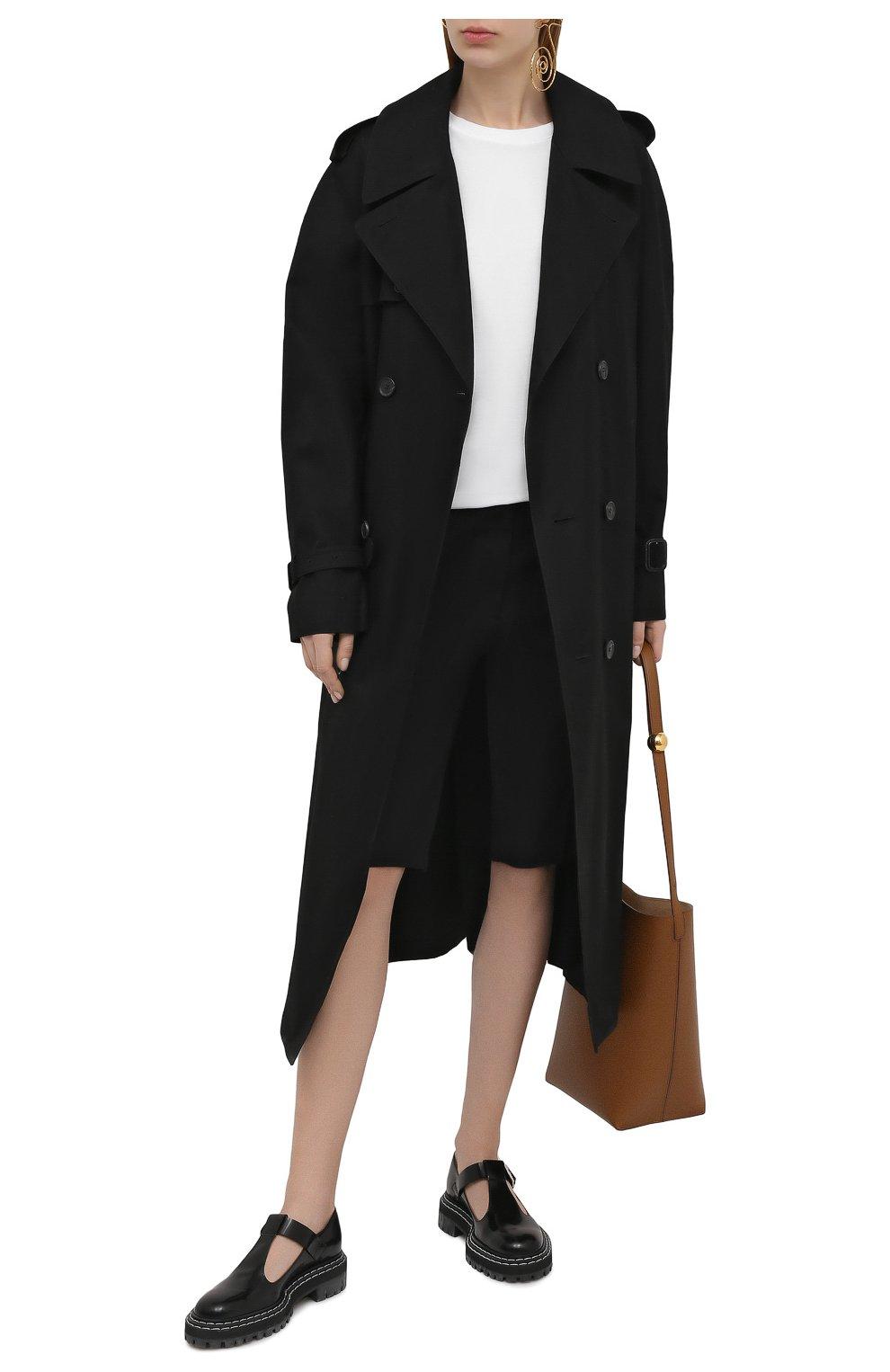 Женская хлопковая футболка DRIES VAN NOTEN белого цвета, арт. 211-11150-2600 | Фото 2 (Принт: Без принта; Рукава: Короткие; Длина (для топов): Стандартные; Материал внешний: Хлопок; Женское Кросс-КТ: Футболка-одежда; Стили: Кэжуэл)