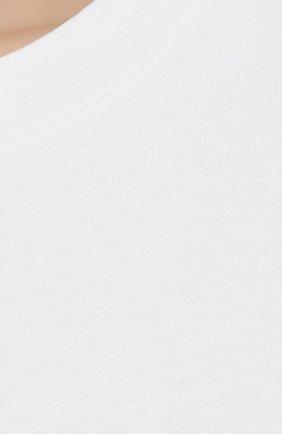 Женская хлопковая футболка DRIES VAN NOTEN белого цвета, арт. 211-11150-2600 | Фото 5 (Принт: Без принта; Рукава: Короткие; Длина (для топов): Стандартные; Материал внешний: Хлопок; Женское Кросс-КТ: Футболка-одежда; Стили: Кэжуэл)