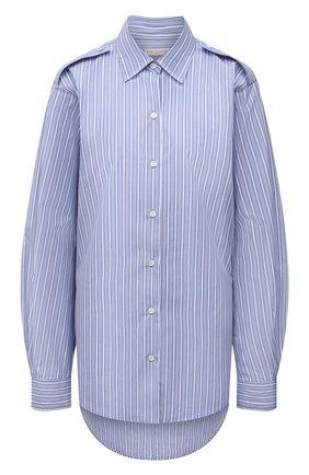 Женская хлопковая рубашка DRIES VAN NOTEN голубого цвета, арт. 211-10771-2160 | Фото 1