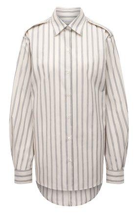Женская хлопковая рубашка DRIES VAN NOTEN белого цвета, арт. 211-10771-2160 | Фото 1