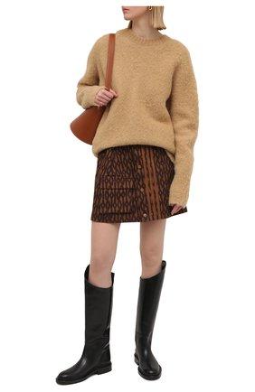 Женский шерстяной свитер JOSEPH бежевого цвета, арт. JF005190 | Фото 2
