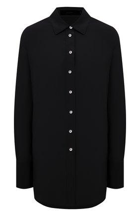 Женская шелковая рубашка JOSEPH черного цвета, арт. JF005232 | Фото 1