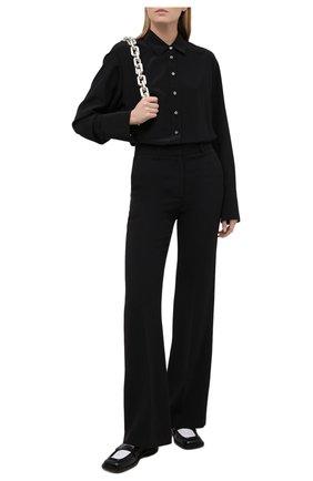 Женская шелковая рубашка JOSEPH черного цвета, арт. JF005232 | Фото 2