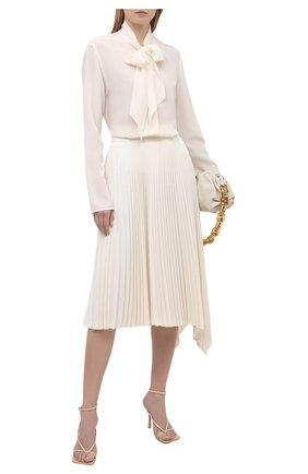 Женская плиссированная юбка JOSEPH светло-бежевого цвета, арт. JF005241 | Фото 2
