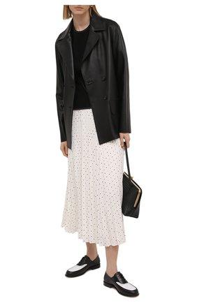 Женская плиссированная юбка JOSEPH белого цвета, арт. JF005245 | Фото 2