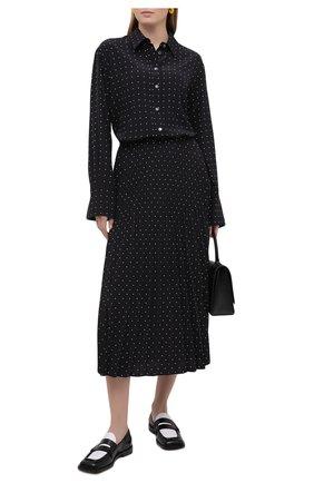 Женская плиссированная юбка JOSEPH черного цвета, арт. JF005245 | Фото 2