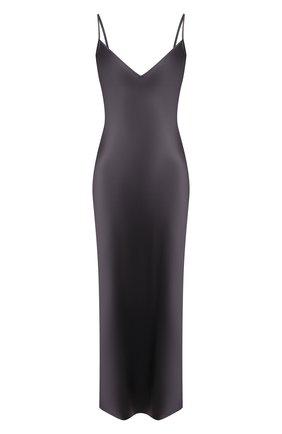 Женское шелковое платье JOSEPH темно-серого цвета, арт. JF005248 | Фото 1