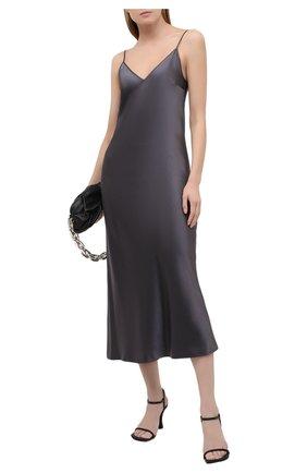 Женское шелковое платье JOSEPH темно-серого цвета, арт. JF005248 | Фото 2