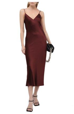 Женское шелковое платье JOSEPH бордового цвета, арт. JF005248 | Фото 2