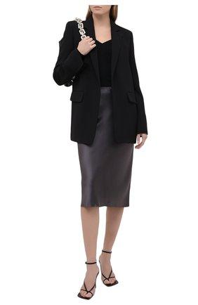 Женская шелковая юбка JOSEPH темно-серого цвета, арт. JF005250 | Фото 2