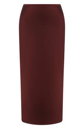 Женская шелковая юбка JOSEPH бордового цвета, арт. JF005250 | Фото 1
