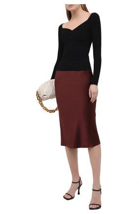 Женская шелковая юбка JOSEPH бордового цвета, арт. JF005250 | Фото 2