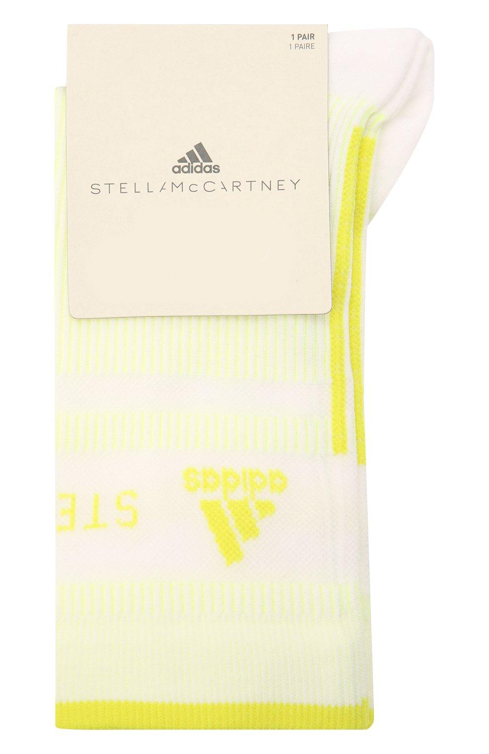 Женские носки ADIDAS BY STELLA MCCARTNEY желтого цвета, арт. GQ7072 | Фото 1