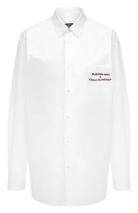 Женская хлопковая рубашка STELLA MCCARTNEY белого цвета, арт. 603036/SRN06 | Фото 1