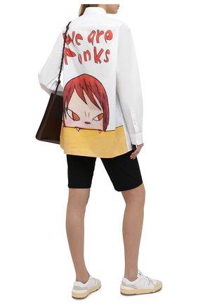 Женская хлопковая рубашка STELLA MCCARTNEY белого цвета, арт. 603036/SRN06 | Фото 2