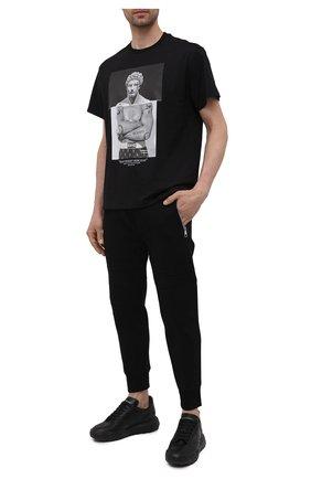 Мужские джоггеры из вискозы NEIL BARRETT черного цвета, арт. PBJP213/Q500C | Фото 2