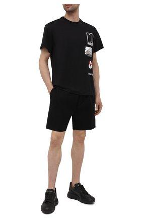 Мужская хлопковая футболка NEIL BARRETT черного цвета, арт. PBJT919S/Q537S | Фото 2