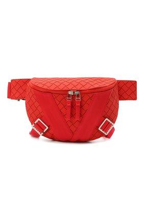 Мужская поясная сумка BOTTEGA VENETA красного цвета, арт. 652551/V0GK1 | Фото 1