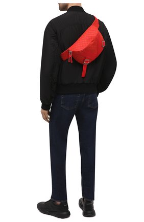 Мужская поясная сумка BOTTEGA VENETA красного цвета, арт. 652551/V0GK1 | Фото 2