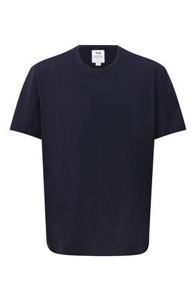 Мужская хлопковая футболка Y-3 темно-синего цвета, арт. FN3350/M | Фото 1