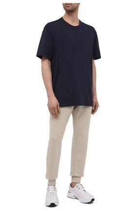 Мужская хлопковая футболка Y-3 темно-синего цвета, арт. FN3350/M | Фото 2