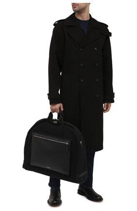 Мужская текстильный кофр GIORGIO ARMANI черного цвета, арт. Y2Q209/YI88E   Фото 2