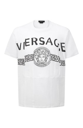 Мужская хлопковая футболка VERSACE белого цвета, арт. A86893/A228806 | Фото 1