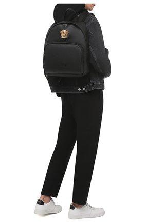 Мужской кожаный рюкзак la medusa VERSACE черного цвета, арт. DFZ8504/DVT8ME | Фото 2 (Материал: Натуральная кожа)