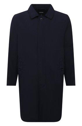 Мужской утепленный плащ ASPESI темно-синего цвета, арт. S1 I I108 F973 | Фото 1 (Мужское Кросс-КТ: Плащ-верхняя одежда; Рукава: Длинные; Длина (верхняя одежда): До середины бедра; Материал внешний: Синтетический материал; Материал подклада: Синтетический материал; Стили: Кэжуэл)