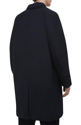 Мужской утепленный плащ ASPESI темно-синего цвета, арт. S1 I I108 F973 | Фото 4 (Мужское Кросс-КТ: Плащ-верхняя одежда; Рукава: Длинные; Длина (верхняя одежда): До середины бедра; Материал внешний: Синтетический материал; Материал подклада: Синтетический материал; Стили: Кэжуэл)