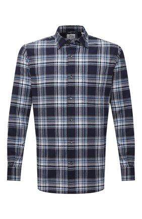 Мужская хлопковая рубашка ASPESI синего цвета, арт. S1 A CC02 G065   Фото 1