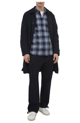 Мужская хлопковая рубашка ASPESI синего цвета, арт. S1 A CC02 G065   Фото 2