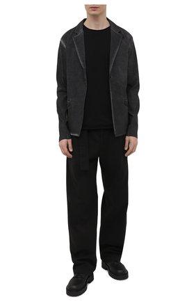Мужские кожаные дерби VIC MATIE черного цвета, арт. 1Z5934U.Y02Z130101 | Фото 2 (Материал внутренний: Натуральная кожа; Стили: Классический)