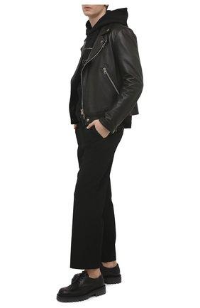 Мужские кожаные дерби VIC MATIE черного цвета, арт. 1Z5932U.Y02Y060101   Фото 2 (Материал внутренний: Натуральная кожа; Стили: Классический)