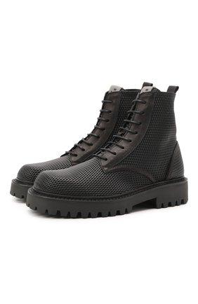 Мужские кожаные ботинки VIC MATIE черного цвета, арт. 1Z5928U.Y02Z130101 | Фото 1 (Материал внутренний: Натуральная кожа; Подошва: Массивная; Мужское Кросс-КТ: Ботинки-обувь)