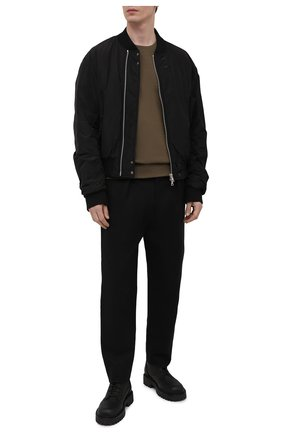 Мужские кожаные ботинки VIC MATIE черного цвета, арт. 1Z5928U.Y02Z130101 | Фото 2 (Материал внутренний: Натуральная кожа; Подошва: Массивная; Мужское Кросс-КТ: Ботинки-обувь)
